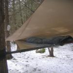 FB-2's Mini-Fly rigged as a lean-to from the breeze.